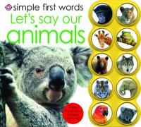 Simple First Words Let's Say Our Animals - Priddy, Roger