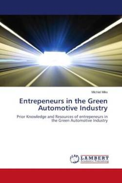 Entrepeneurs in the Green Automotive Industry - Mikx, Michiel