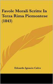 Favole Morali Scritte in Terza Rima Piemontese (1843)