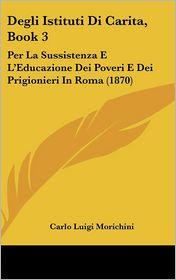 Degli Istituti Di Carita, Book 3: Per La Sussistenza E L'Educazione Dei Poveri E Dei Prigionieri In Roma (1870) - Carlo Luigi Morichini