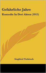 Gefahrliche Jahre: Komodie In Drei Akten (1915) - Siegfried Trebitsch