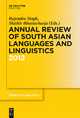 Annual Review of South Asian Languages and Linguistics - Rajendra Singh;  Shishir Bhattacharja