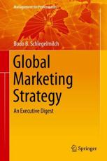Global Marketing Strategy - Bodo B. Schlegelmilch