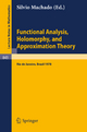 Functional Analysis, Holomorphy, and Approximation Theory - S. Machado