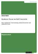 Balci, Umut: Konkrete Poesie im DaF-Unterricht