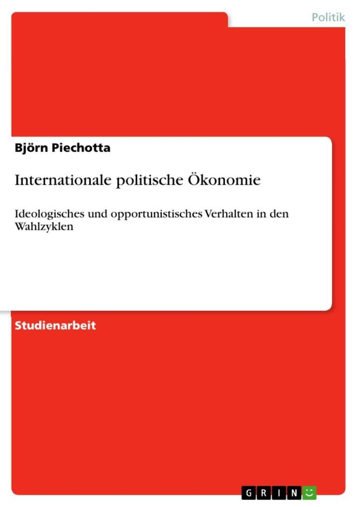 Internationale politische Ökonomie als eBook Download von Björn Piechotta - Björn Piechotta