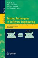 Testing Techniques in Software Engineering