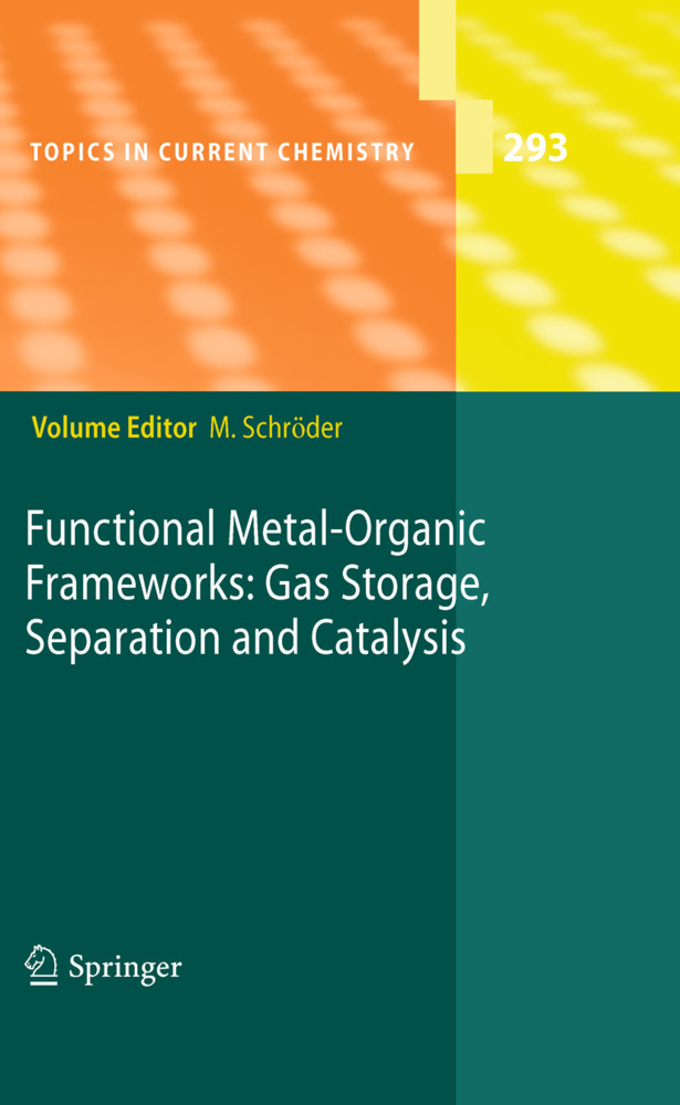 Functional Metal-Organic Frameworks: Gas Storage, Separation and Catalysis als Buch von - Springer Berlin Heidelberg