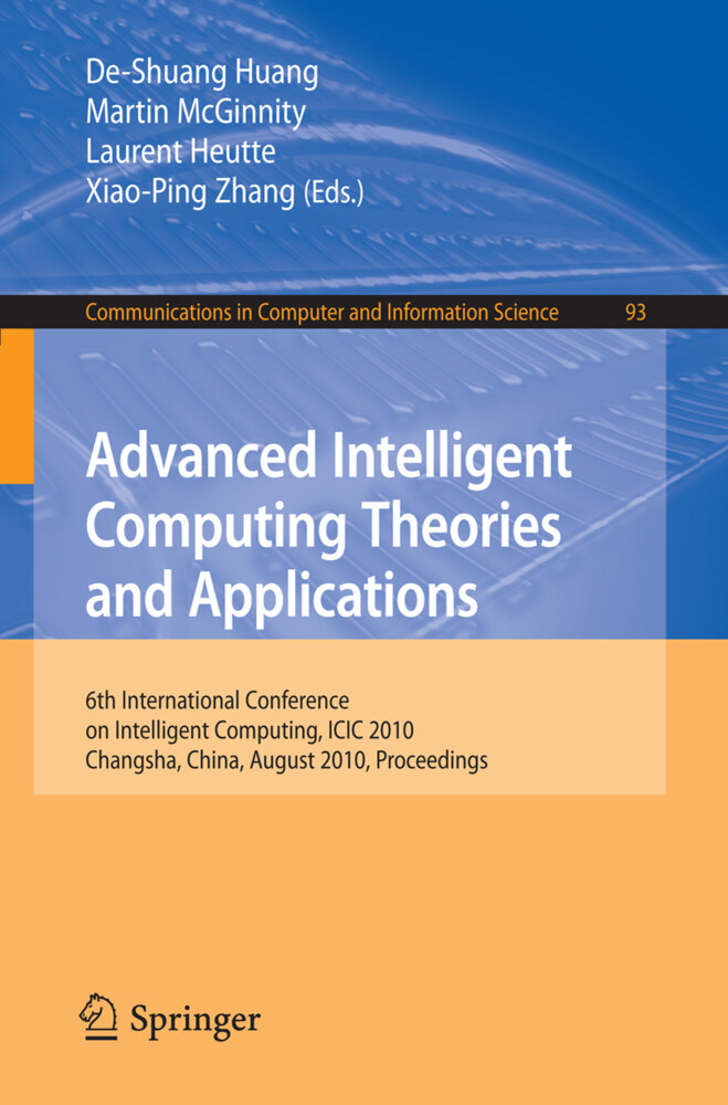 Advanced Intelligent Computing. Theories and Applications als Buch von