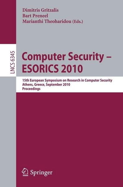 Computer Security - ESORICS 2010 - Springer Berlin