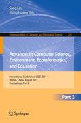 Advances in Computer Science, Environment, Ecoinformatics, and Education, Part III