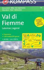 Carta escursionistica n. 79. Trentino, Veneto. Val di Fiemme, Latemar, Lagorai 1:50000