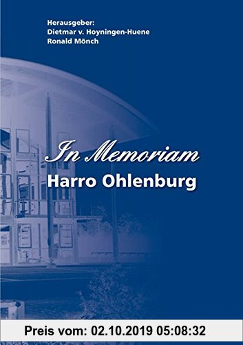 Gebr. - In Memoriam - Harro Ohlenburg