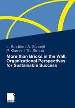 More than Bricks in the Wall: Organizational Perspectives for Sustainable Success - Lea Stadtler; Achim Schmitt; Patricia Klarner; Thomas Straub