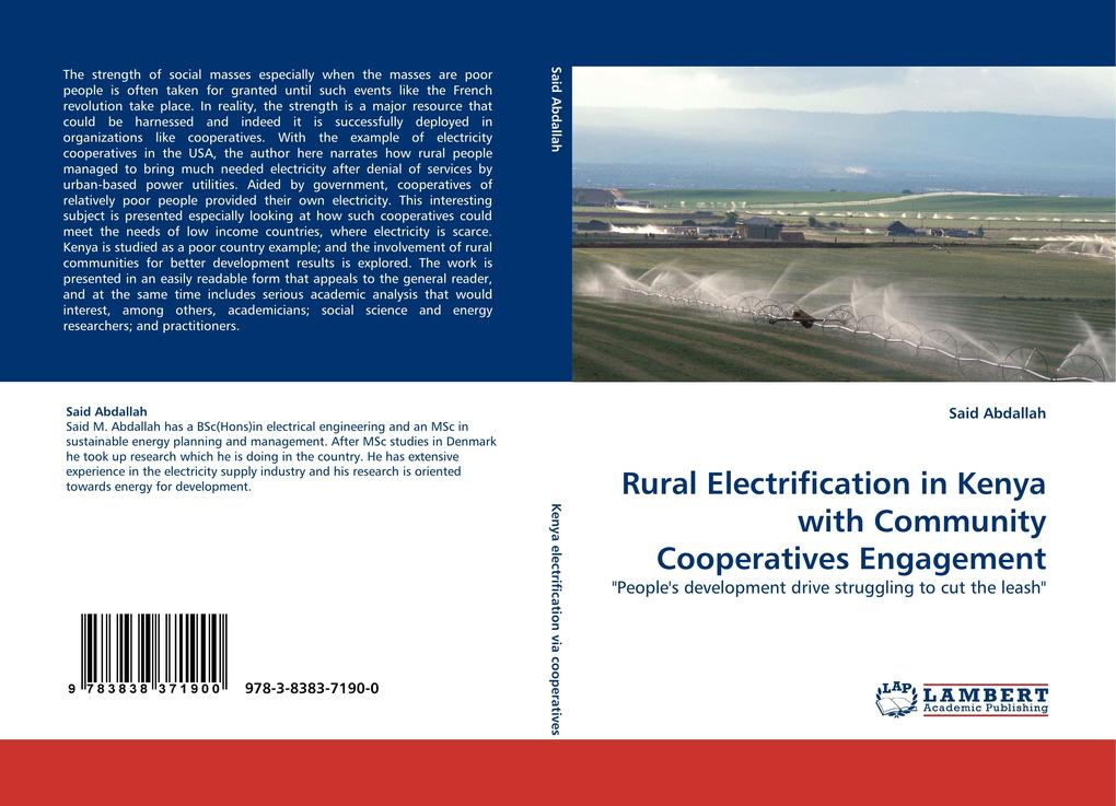 Rural Electrification in Kenya with Community Cooperatives Engagement als Buch von Said Abdallah - Said Abdallah