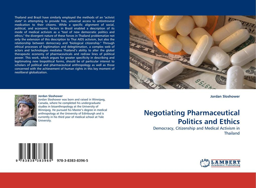 Negotiating Pharmaceutical Politics and Ethics als Buch von Jordan Sloshower - Jordan Sloshower