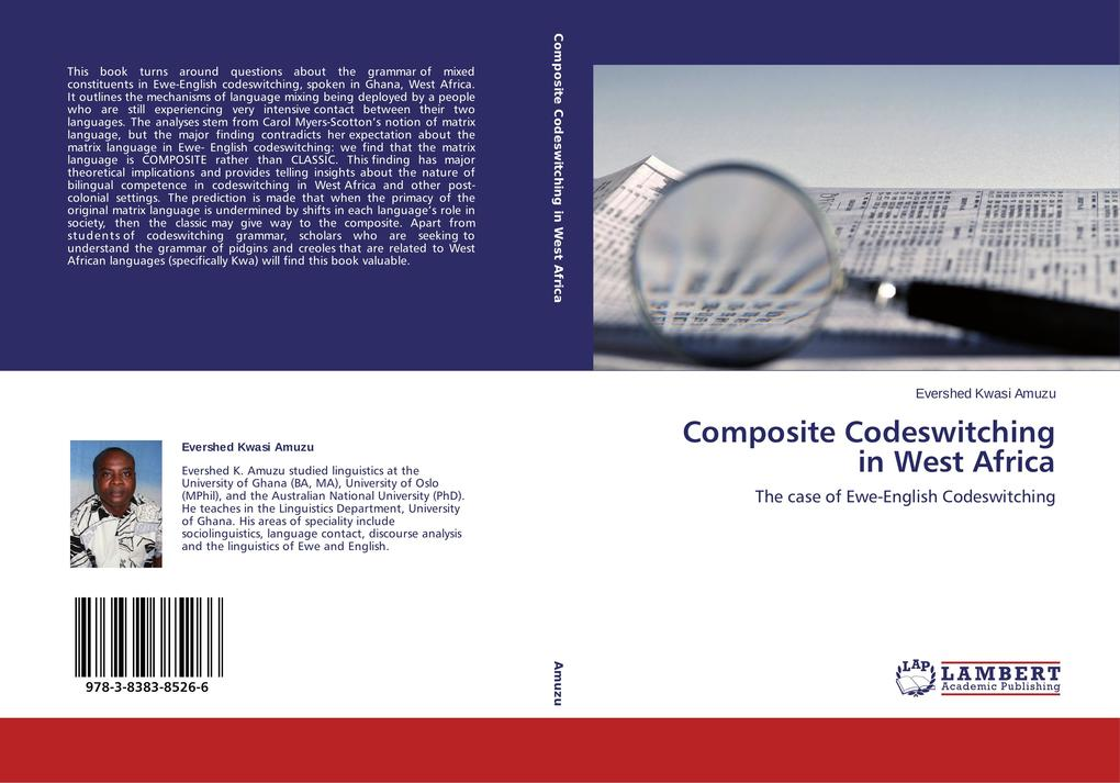 Composite Codeswitching in West Africa als Buch von EVERSHED KWASI AMUZU - EVERSHED KWASI AMUZU
