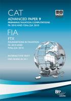 Cat - 9 Preparing Taxation Computations Fa2010: Study Text - BPP Learning Media