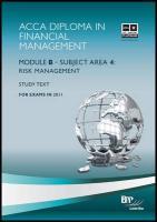 Dipfm - Risk Management: Study Text - BPP Learning Media