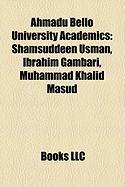 Ahmadu Bello University Academics: Shamsuddeen Usman