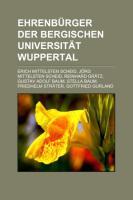 Ehrenbürger Der Bergischen Universität Wuppertal