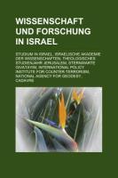 Wissenschaft Und Forschung in Israel