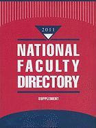 National Faculty Directory Supplement
