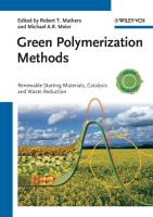 Green Polymerization Methods
