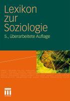 Lexikon zur Soziologie Werner Fuchs-Heinritz Editor