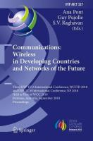 Communications: Wireless in Developing Countries and Networks of the Future: 3rd IFIP TC 6 International Conference, WCITD 2010 and IFIP TC 6 ... and Communication Technology (327), Band 327)