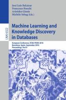 Machine Learning and Knowledge Discovery in Databases: European Conference, ECML PKDD 2010, Barcelona, Spain, September 20-24, 2010. Proceedings, Part ... Notes in Computer Science, 6322, Band 6322)