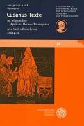 Cusanus-Texte / Apuleius. Hermes Trismegistus. Aus Codex Bruxellensis 10054-56 (Schriften der Philosophisch-historischen Klasse der Heidelberger Akademie der Wissenschaften)