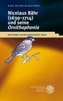 Nikolaus Bähr (1639-1714) und seine 'Ornithophonia'