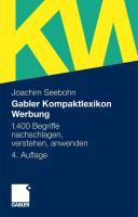 Gabler Kompaktlexikon Werbung