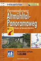 Hikeline Fernwanderweg Altmühltal-Panoramaweg 210 km: Wandern im Naturpark Altmühltal. Wanderführer und Karte 1 : 35 000, wetterfest