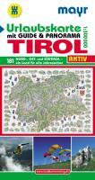Urlaubsführer Tirol mit Straßenkarte 1:300000 und Panorama
