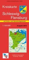 LVA SH 100 000 Kreis Schleswig-Flensburg inkl. Flensburg - Amts- und Gemeindegrenzen: Der Karteninhalt der Kreiskartenausgabe mit den Amts- und ... und Gemeindegrenzen in violett dargestellt