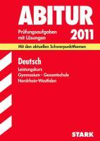 Abitur Deutsch. Leistungskurs Gymnasium Gesamtschule Nordrhein-Westfalen