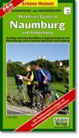 Radwander- und Wanderkarte Mittleres Saaletal Naumburg und Umgebung