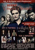 """Icons Vampire Chronicle Twilight 02/10 Limited Edition mit 6 Postern, 4 Postkarten + XL-Sticker, allen Infos zu """" Eclipse """" und neuem Interview mit Robert Pattinson!"""