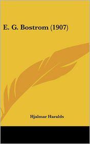 E.G. Bostrom (1907) - Hjalmar Haralds