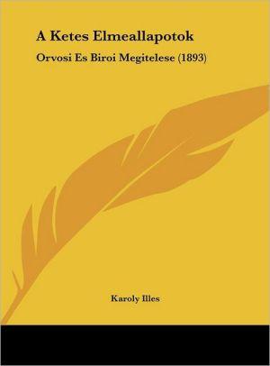 A Ketes Elmeallapotok: Orvosi Es Biroi Megitelese (1893) - Karoly Illes