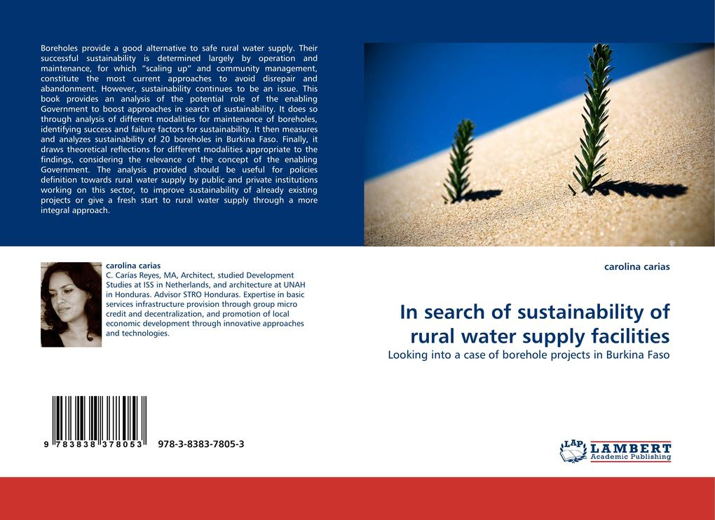 In search of sustainability of rural water supply facilities als Buch von carolina carias - LAP Lambert Acad. Publ.