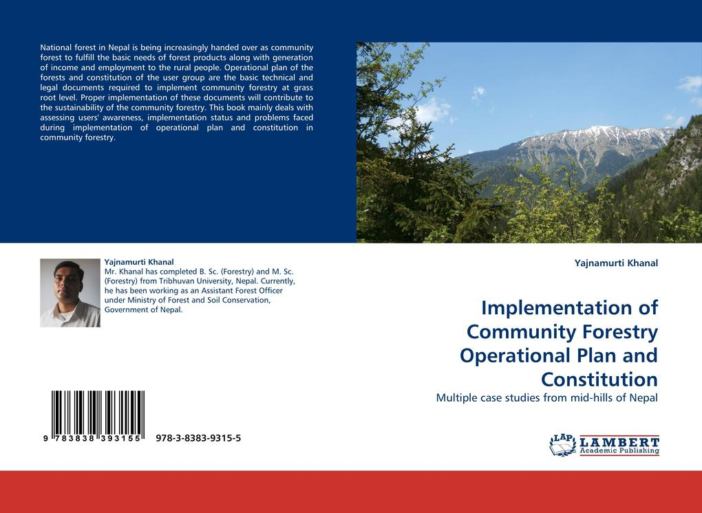 Implementation of Community Forestry Operational Plan and Constitution als Buch von Yajnamurti Khanal - Yajnamurti Khanal